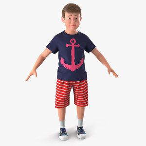 3D realistic modern teenage boy