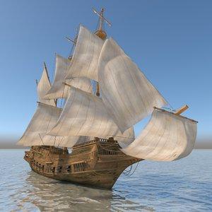 medieval war ship model