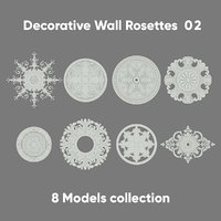 3D decorative rosette wall