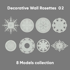 3D decorative rosette wall