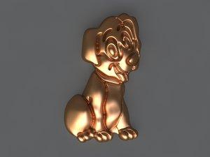 3D dog mold hand model