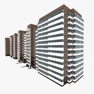 3D model residential house building 5-8