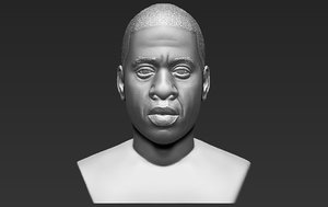 3D jay-z bust ready printing model