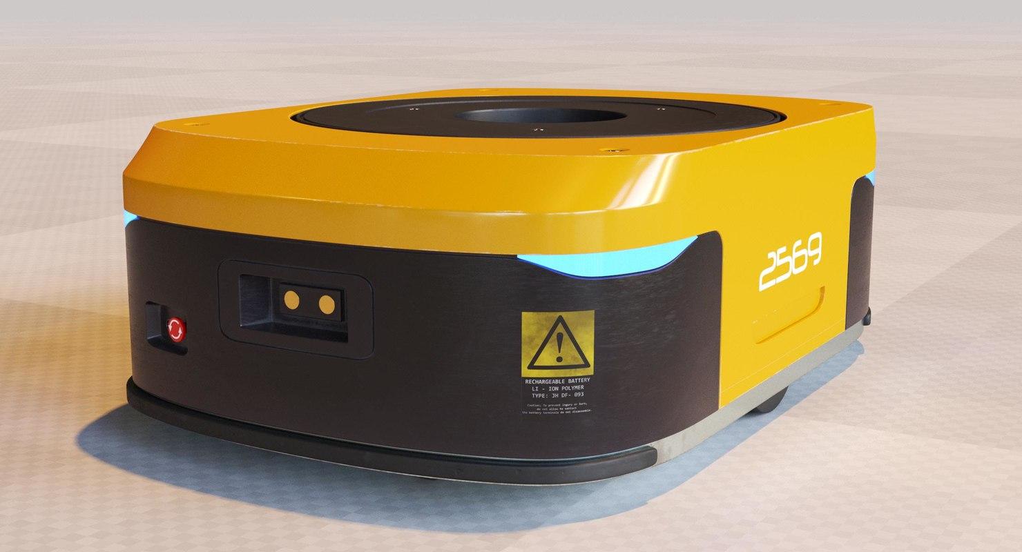 3D model warehouse robot