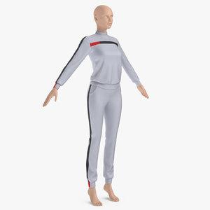 woman sportswear 3D model