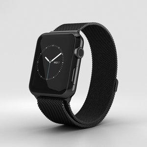 apple watch space 3D