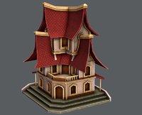 3D model house cartoon v08