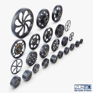 3D gears set v 1