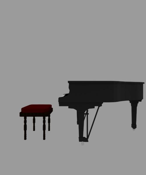 3D piano stool