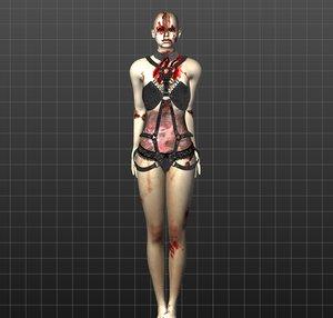 3D model sexy zombie