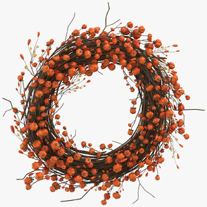 autumn wreath 01 3D model