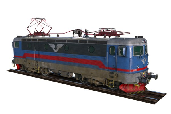 swedish sj locomotive 3D model