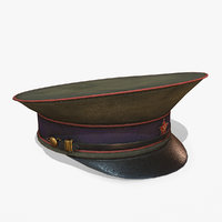 russian ommander hat ww2 3D model