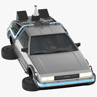 3D delorean flying model