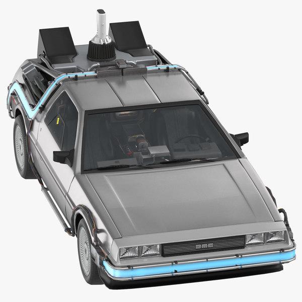 delorean driving 3D model