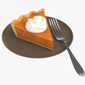 pumpkin pie slice 3D