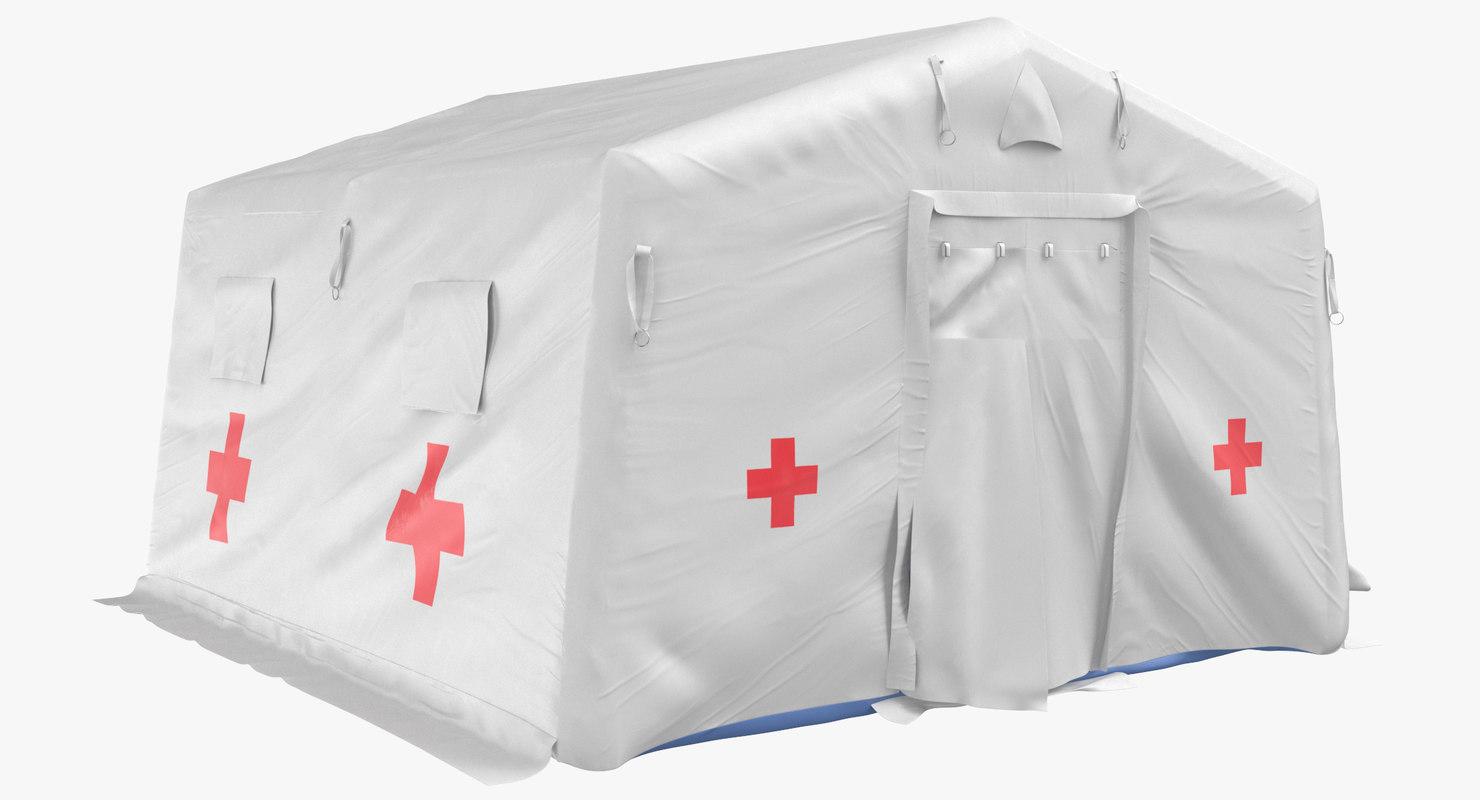 3D quarantine tent closed model