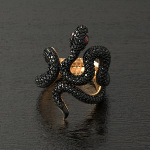 3D model black mamba ring