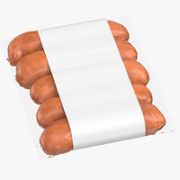 3D sausage packaging 03 01 model