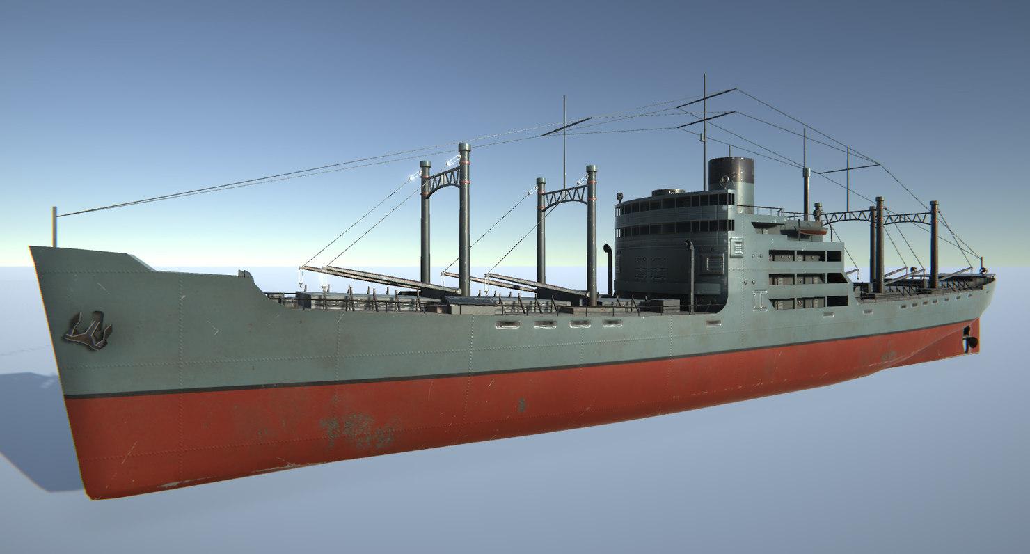 ship wwii pbr 3D model