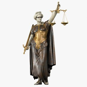 3D lady justice