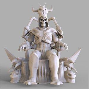 skeletor sculpture 3D