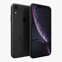 3D apple iphone xr black model