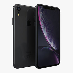 3D apple iphone xr black model