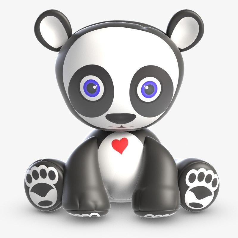 toy andy panda 3D