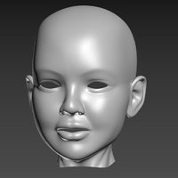 head sculpt child splines model
