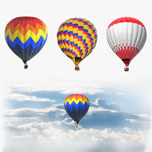 hot air balloons 3D