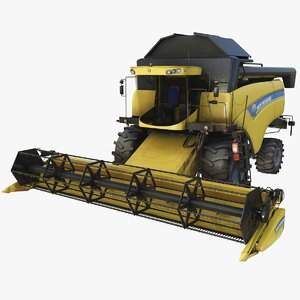 combine harvester new holland 3D
