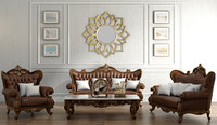 classical sofa set 3D model