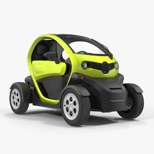 electric car generic 3D model