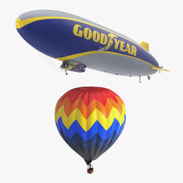hot air balloon blimp 3D model