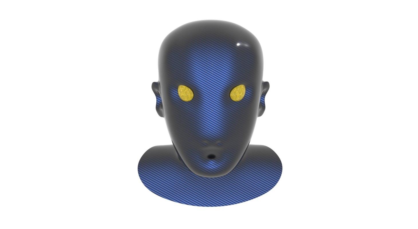 head carbon alien model
