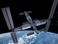 3D china space station