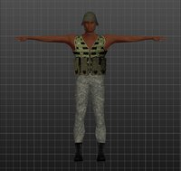 3D african solider