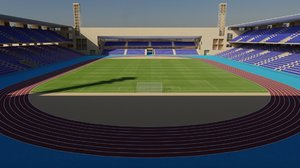 3D marrakech stadium stade model