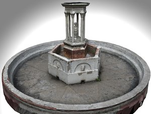3D fountain old model