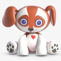 3D toy dax dog