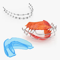 3D dental tooth braces retainer model