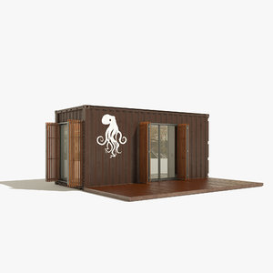 3D model container house b