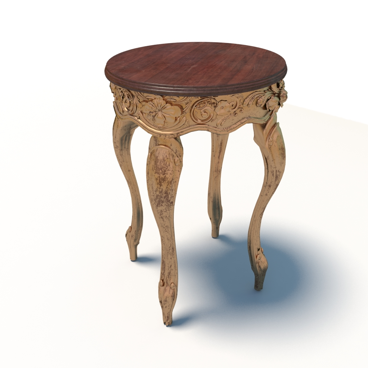 Antique Baroque Table Model
