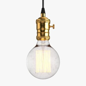 vintage retro light bulb 3D model