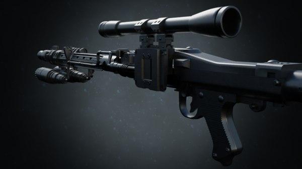 dlt 19x blaster weapon 3D model