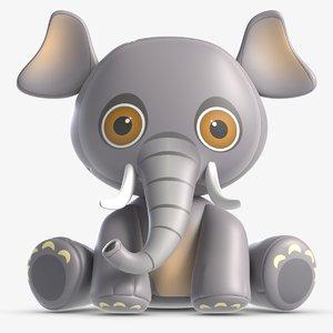 3D toy elle elephant