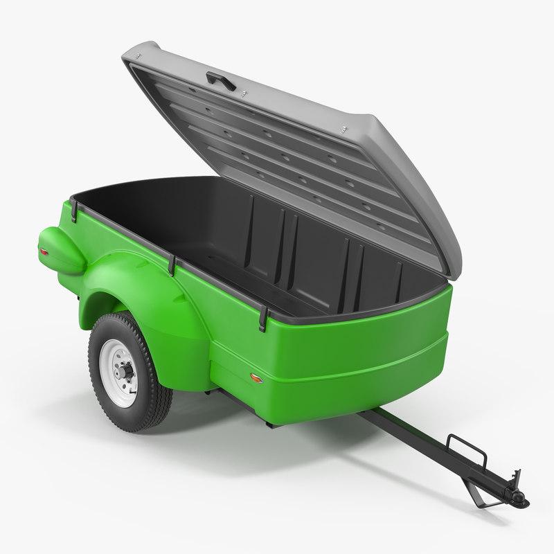 Small Cargo Trailers >> 3d Enclosed Small Cargo Trailer Model Turbosquid 1339388