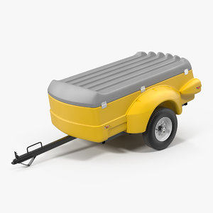 mini cargo utility trailer 3D model