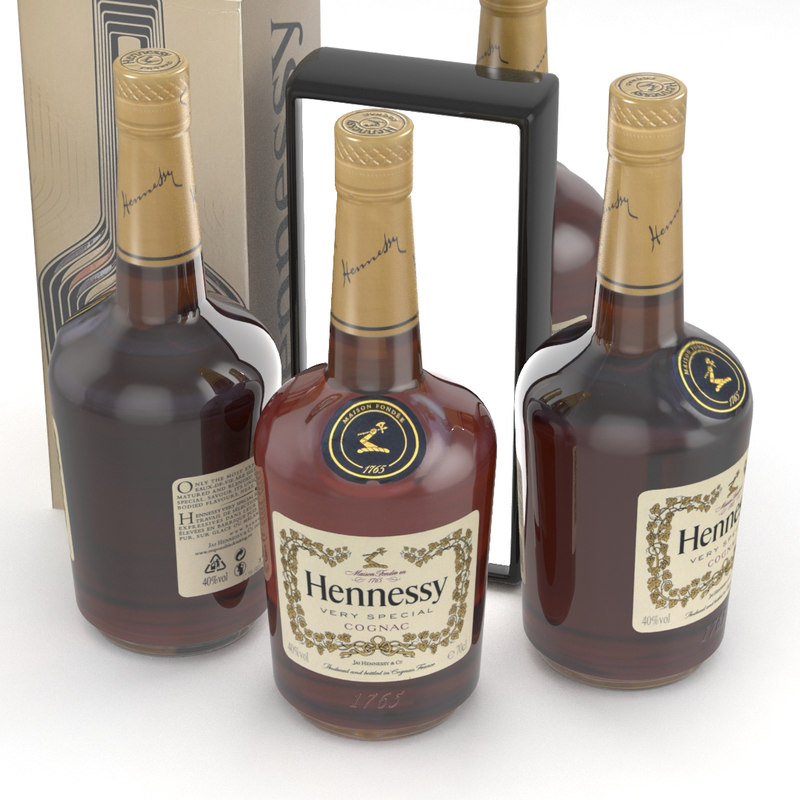hennessy cognac alcohol 3D model